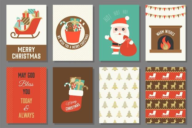 Cartões de feliz natal.