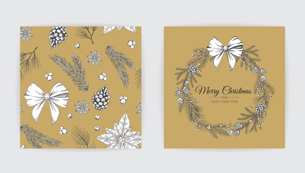 Cartões de feliz natal