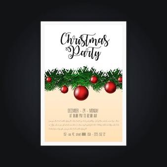 Cartões de festa de natal e cartaz