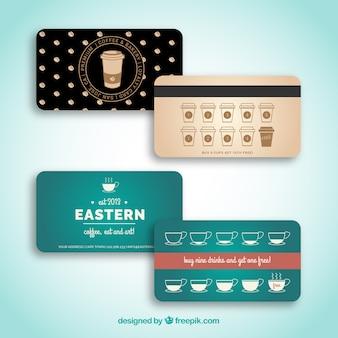 Cartões de fidelidade com café