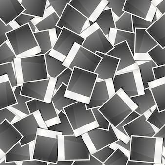 Cartões de foto instantânea retrô, padrão sem emenda
