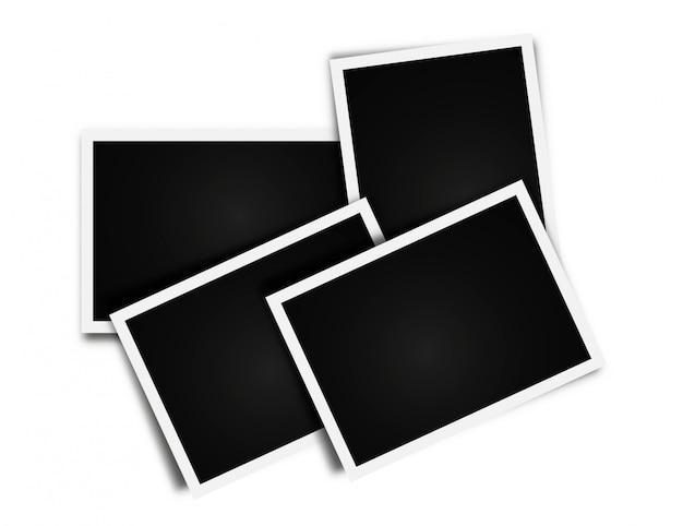 Cartões de fotos frame colagem em branco