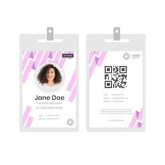 Cartões de identificação abstratos com foto