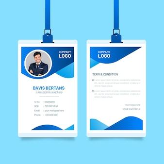 Cartões de identificação abstratos