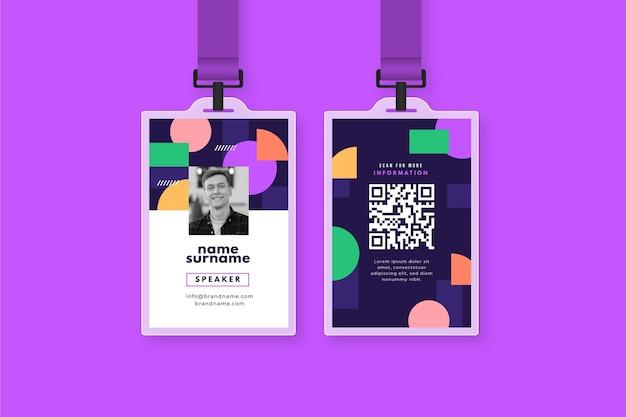 Cartões de identificação criativos com imagem