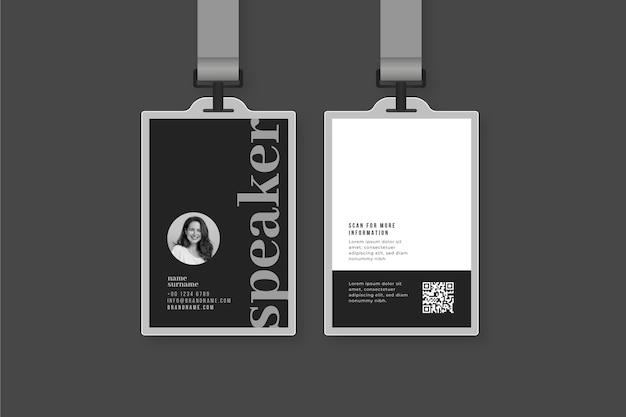 Cartões de identificação mínimos com foto