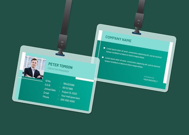 Cartões de identificação mínimos