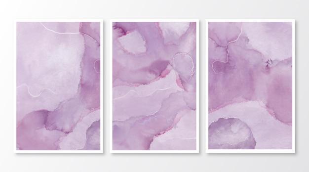 Cartões de mármore em aquarela abstrata