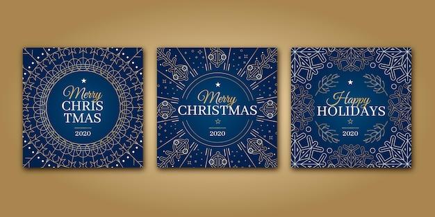 Cartões de natal ornamentais