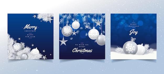 Cartões de natal realistas