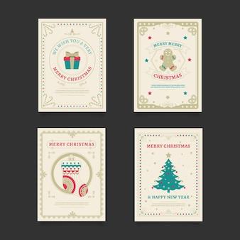 Cartões de natal vintage