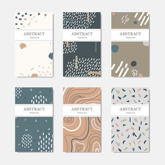 Cartões de nome de mão desenhada estampados