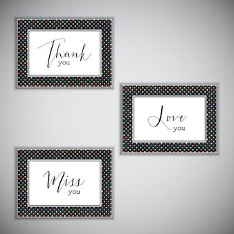 Cartões de nota decorativos com vários provérbios