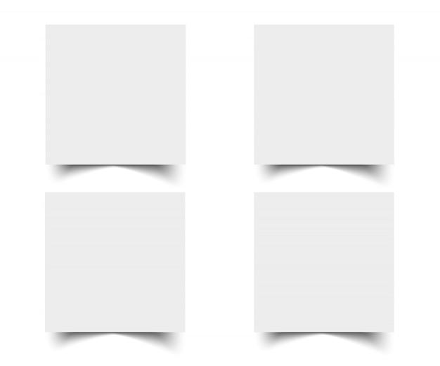 Cartões de papel branco