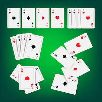 Cartões de poker de cassino