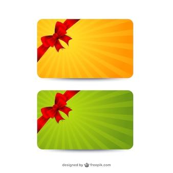 Cartões de presente modelos