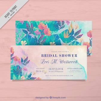 Cartões de solteira florais
