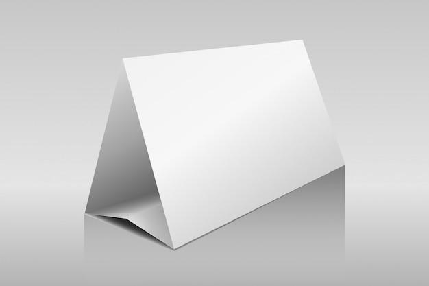 Cartões de triângulo de papel de barraca de mesa horizontal