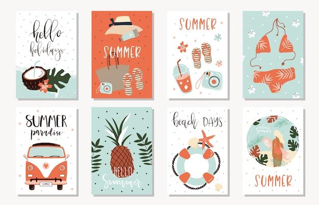 Cartões de verão.