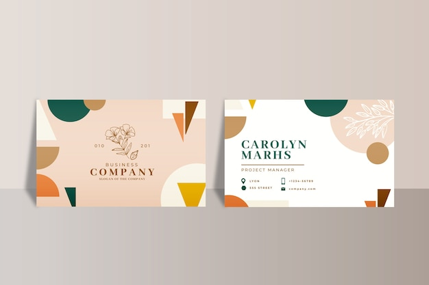 Cartões de visita abstratos corporativos