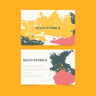 Cartões de visita com design pintado à mão
