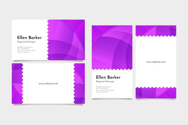 Cartões de visita com lindo design gradiente