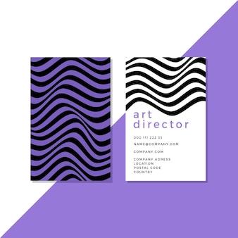 Cartões de visita com linhas distorcidas