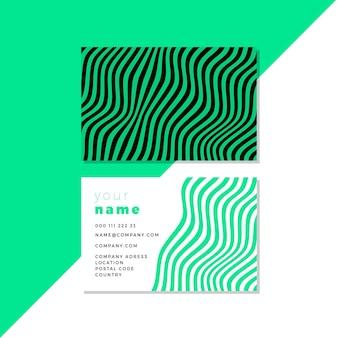 Cartões de visita com modelo de linhas distorcidas