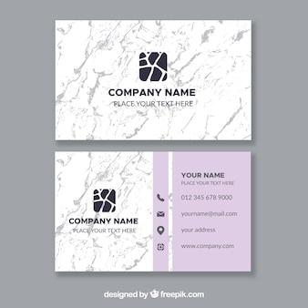 Cartões de visita com textura de mármore