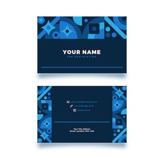 Cartões de visita criativos abstratos com design aleatório