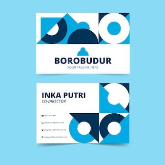 Cartões de visita criativos abstratos com formas geométricas circulares