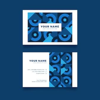 Cartões de visita criativos abstratos em tons de azuis