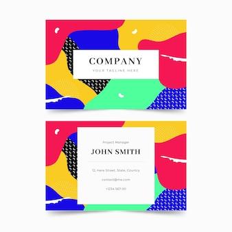 Cartões de visita de design colorido