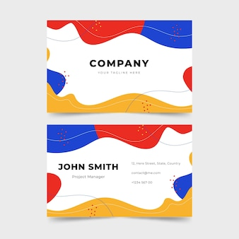 Cartões de visita de design fluido