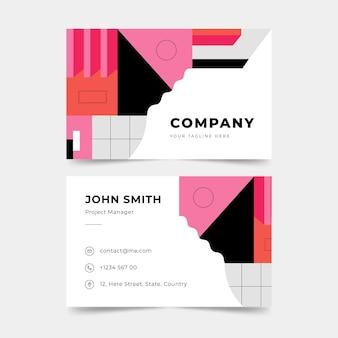 Cartões de visita de design minimalista