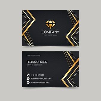 Cartões de visita de luxo dourados