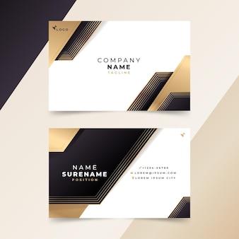 Cartões de visita de luxo gradiente dourado