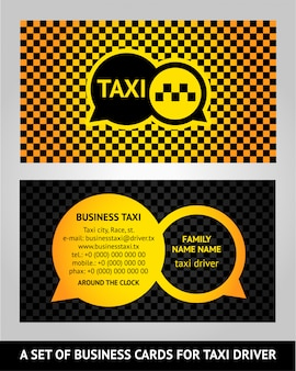 Cartões de visita de táxi