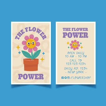 Cartões de visita desenhados à mão com desenhos simples e modernos