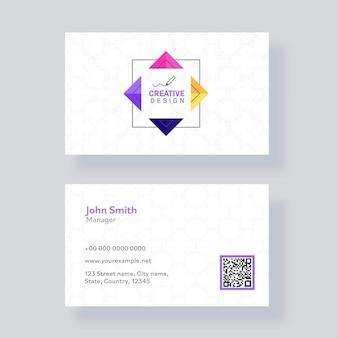 Cartões de visita editáveis