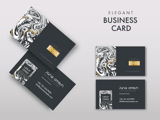 Cartões de visita elegantes