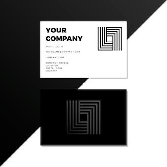 Cartões de visita monocromáticos em forma de quadrado