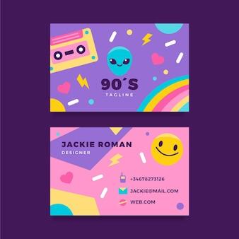 Cartões de visita nostálgicos e planos dos anos 90