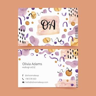 Cartões de visita pintados à mão