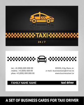 Cartões de visita táxi