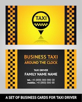 Cartões de visita taxista