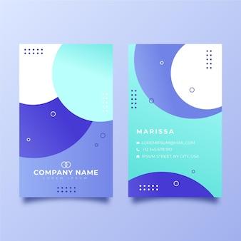Cartões de visita verticais da empresa em gradiente