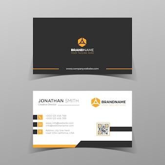 Cartões de visita vetoriais e modelo moderno, criativo e limpo, design de layout simples mínimo de cartão de visita