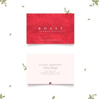 Cartões de visitas naturais dos motivos das rosas