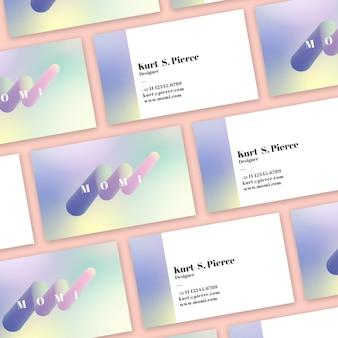 Cartões de visitas pastel do inclinação